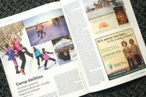 Adirondack Life Magazine Winter Camp Abilities Article.